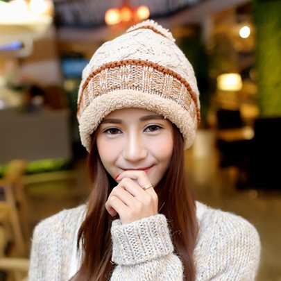 Fashion Warmth Corduroy Thick Knitted Hat