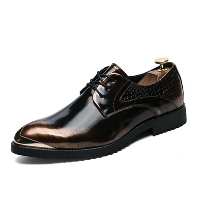Brush Off Sequin Lace Up Professional Shoes for Men