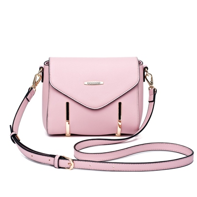 Ladylike Solid Color Cross Body Bag