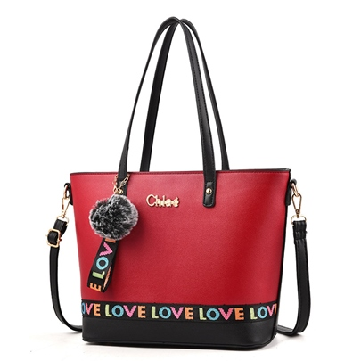 Trendy Prints Design PU Women Tote Bag