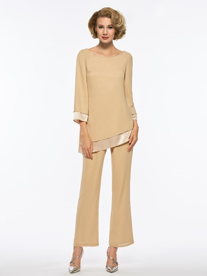 Sequins Long Sleeves Mother of the Bride Jumpsuit