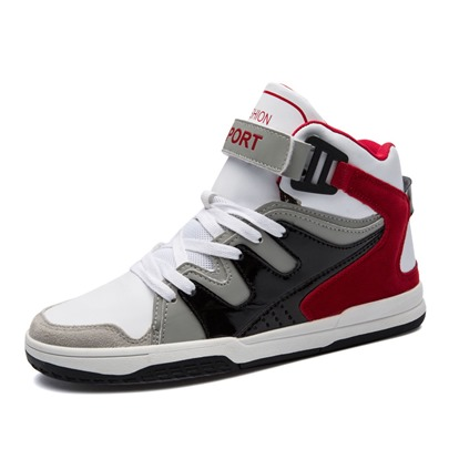 Patchwork Color Block Velcro Men's Winter Skater Shoes