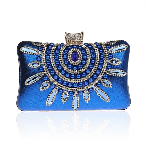 Elegant Beads Floral Decoration Evening Clutch