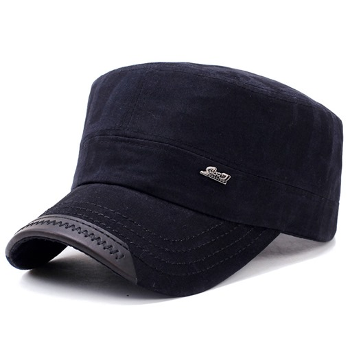 PU Flatcap Cotton Adjustable Korean Style Men's Hats