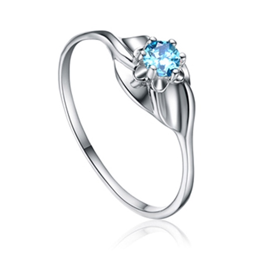 simple diamante zircon incrusté rond bague en argent sterling