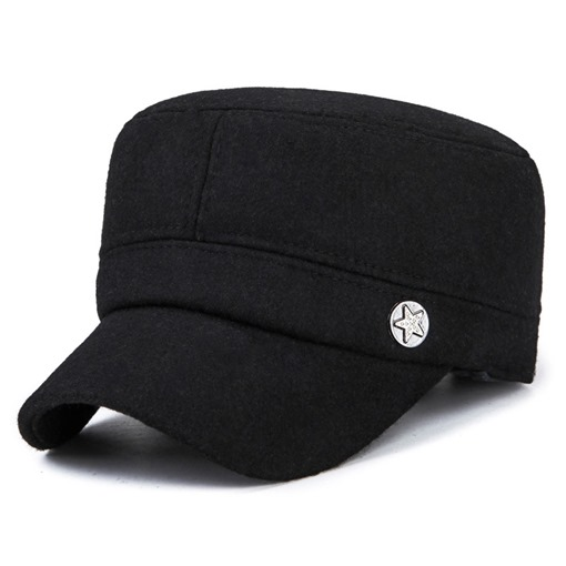 Thicken Rivets Flatcap Ear Protection Men's Hats