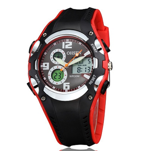 Multifunctional Water Resistant Two Eye Table Sports Men's Watches