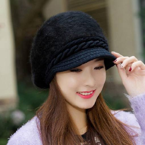 Cashmere Warmth Beret Knitted Hat