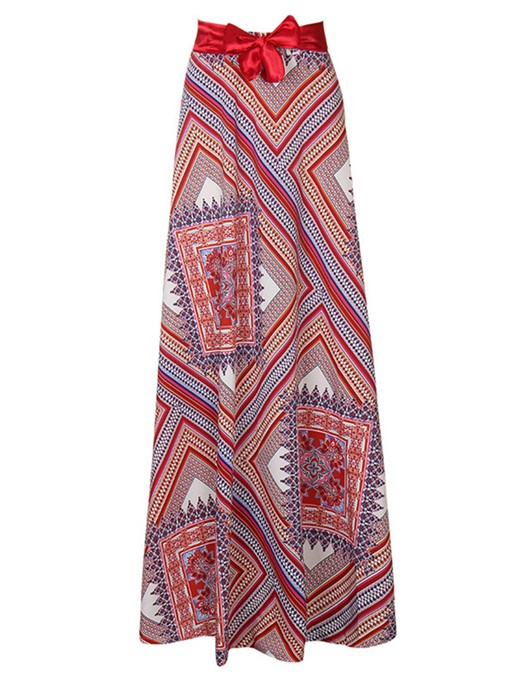 Bownot Geometric Print High Waisted Women's Skirt