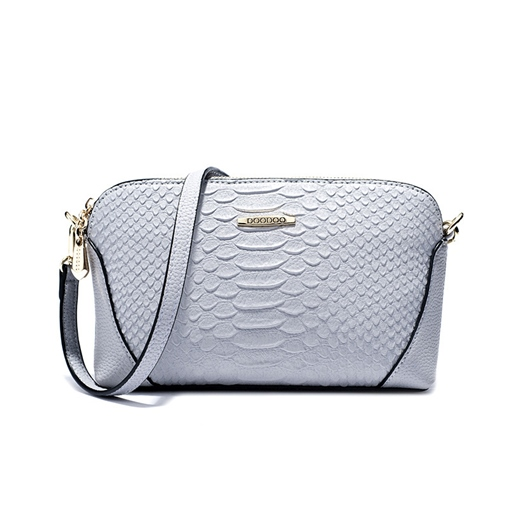 Alligator Pattern Shell Cross Body Bag