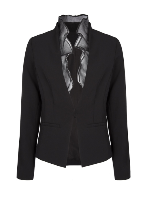 Patchwork Long Sleeve Women's Blazer