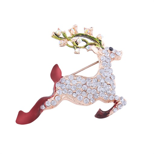 Rhinestone Elk Full Drill Personalized Alloy Christmas Women's Brooches
