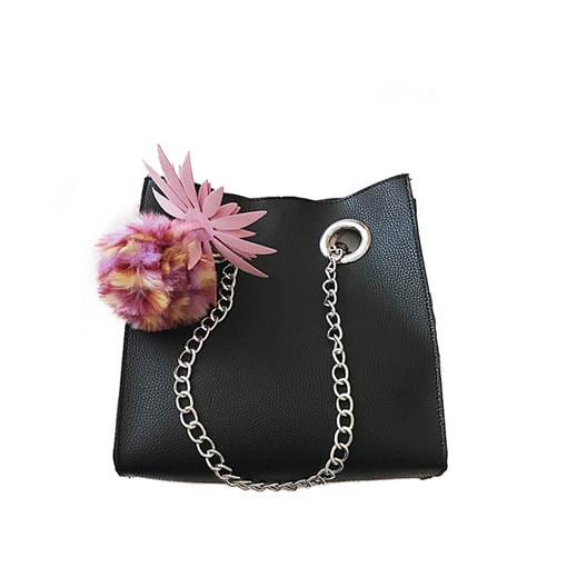 Fashion Ball Pendant Chain Cross Body Bag