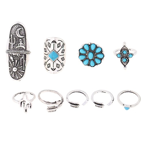 Openings Zircon Inlaid Knuckle Joint Conjoined Sets Ring