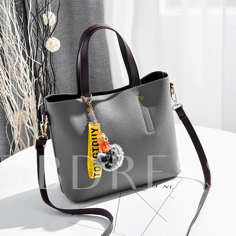 Korean Style Classic Sewing Thread Tote Bag