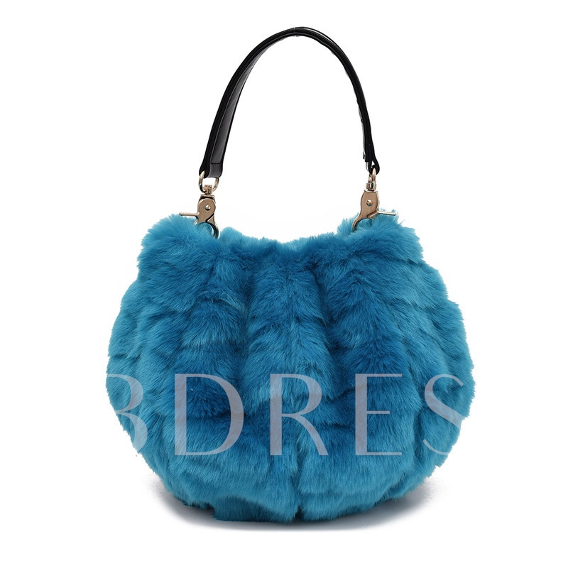 Korean Style Soft Plush Women Tote
