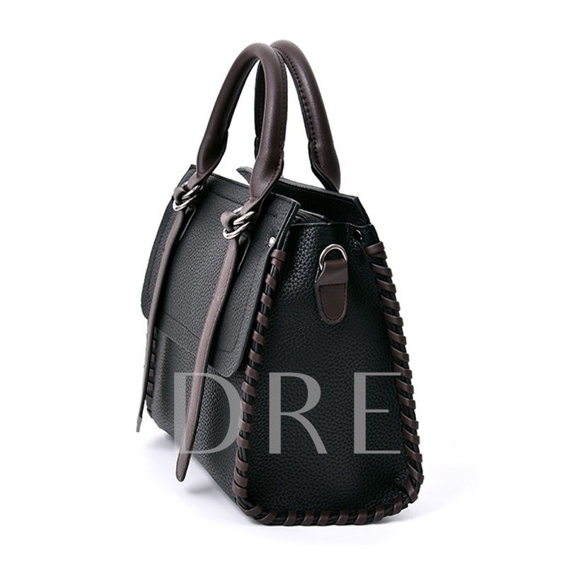 Classic Litchi Pattern Embossing Women Tote