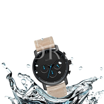Three Chronograph Watch Water Resistant Simple Men's Watches
