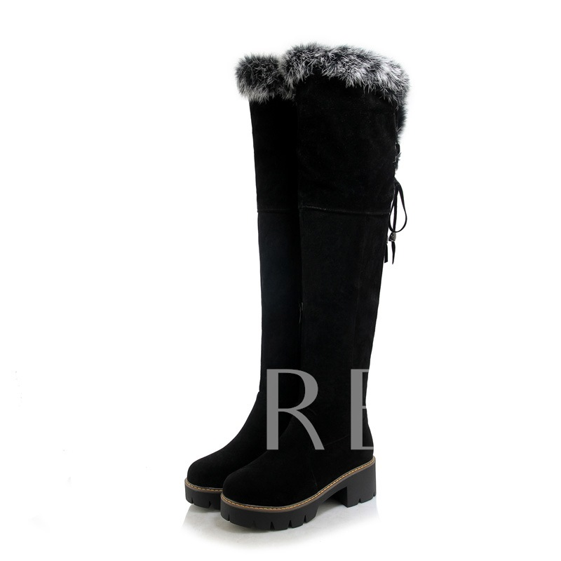 Side Zipper Plush Purfle Suede Boots for Women(Plus Size Available)