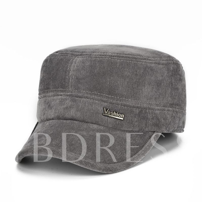 Cotton Ear Protection Corduroy Middle-Aged Men's Hats