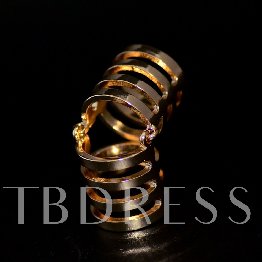 Circle Geometric Knuckle Joint Alloy Conjoined Ring