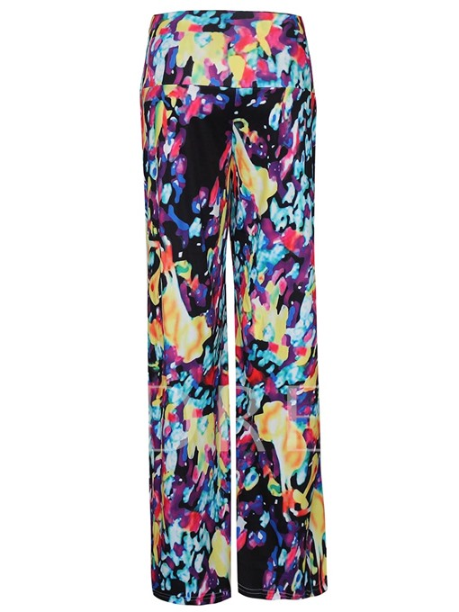 Floral Print High Waisted Women's Palazzo Pants