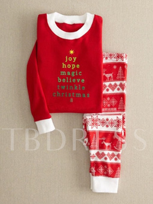 Christmas Thick Animal Letter Women's Pants Suit