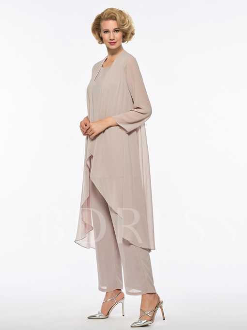 Loose Mother of the Bride Jumpsuit with Long Sleeve Jacket