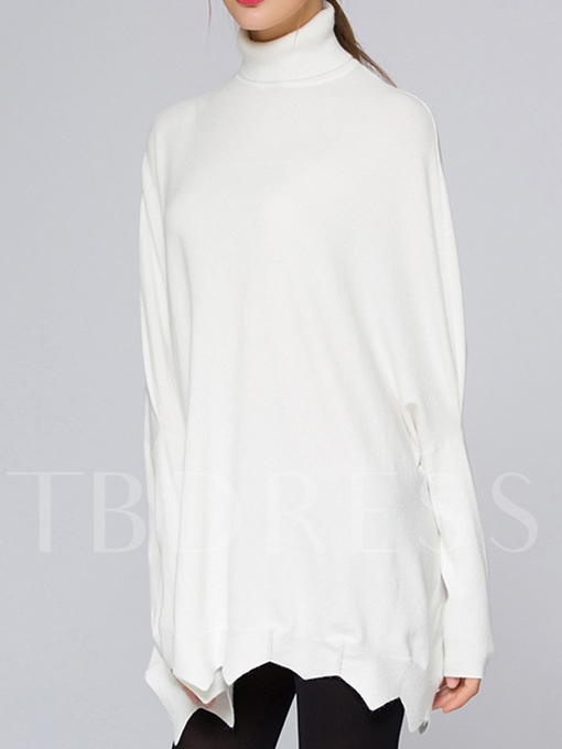 Turtleneck Batwing Sleeve Thin Pullover Women's Sweater