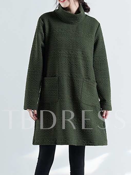 Turtleneck Loose Long Thick Women's Sweater