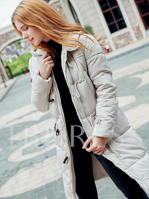 Plain Pocket Zipper Warm Women's Winter Thick Overcoat
