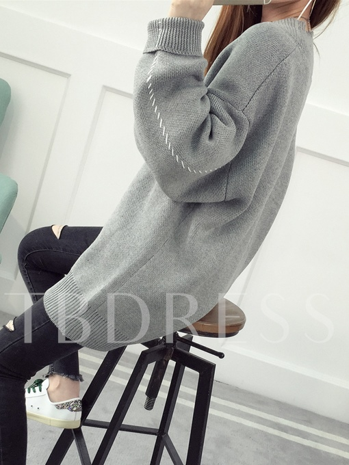 V-neck Buttons Loose Sweater Women's Cardigan