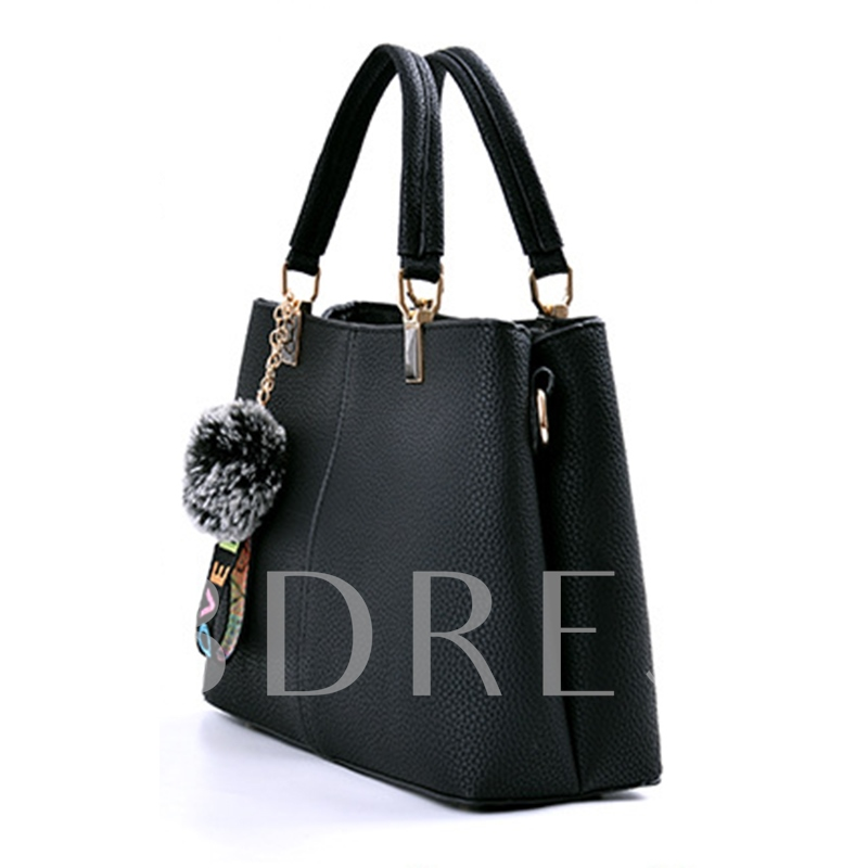 Casual Balls Pendant Solid Color Women Tote