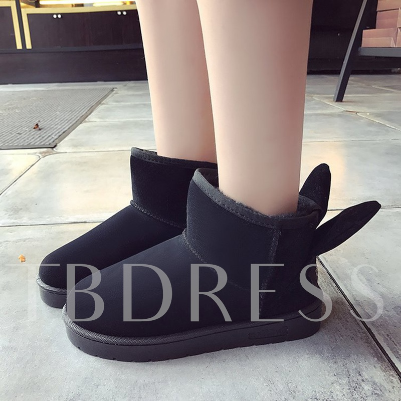 Back Ear Flat With Women's Cute Boots