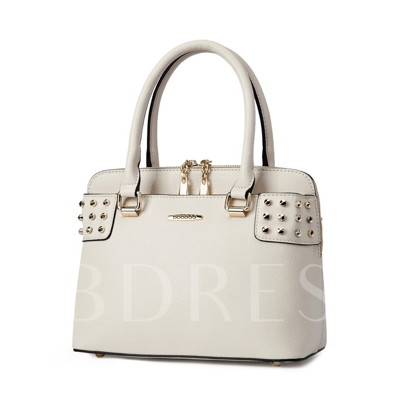 Korean Style Rivets Adornment Shell Tote