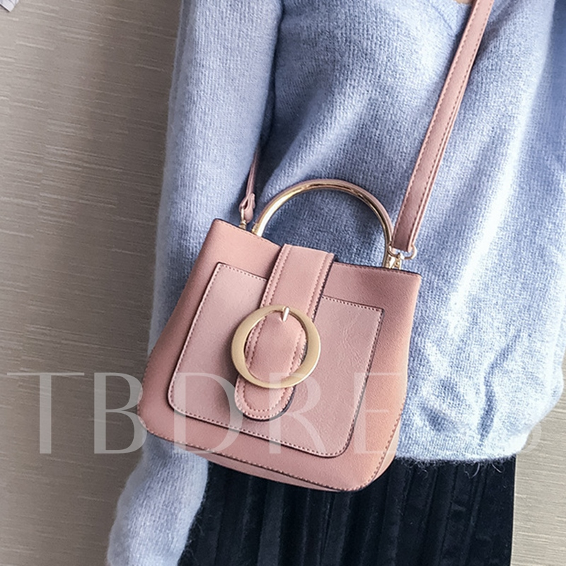 Casual Belt Decorated Solid Color Women Tote