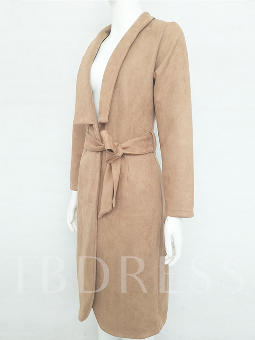 Sexy V-neck Lapel with Belt Slim Women's Trench Coat