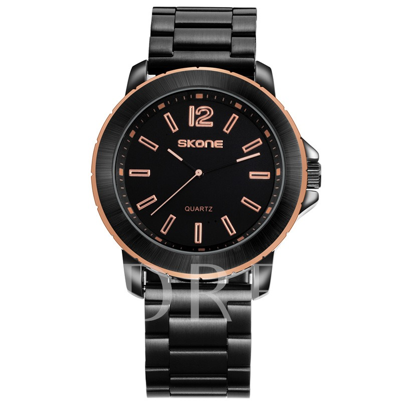 Stainless Steel Water Resistant Quartz Men's Business Watches