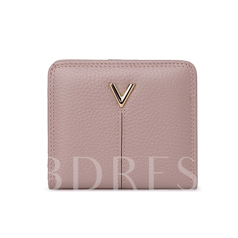 Korean Style Short Type Embossing Purse