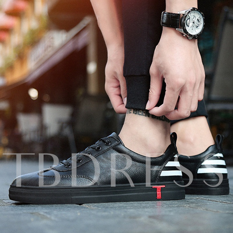 T Shaped Back Stripe Color Block Men's Casual Shoes