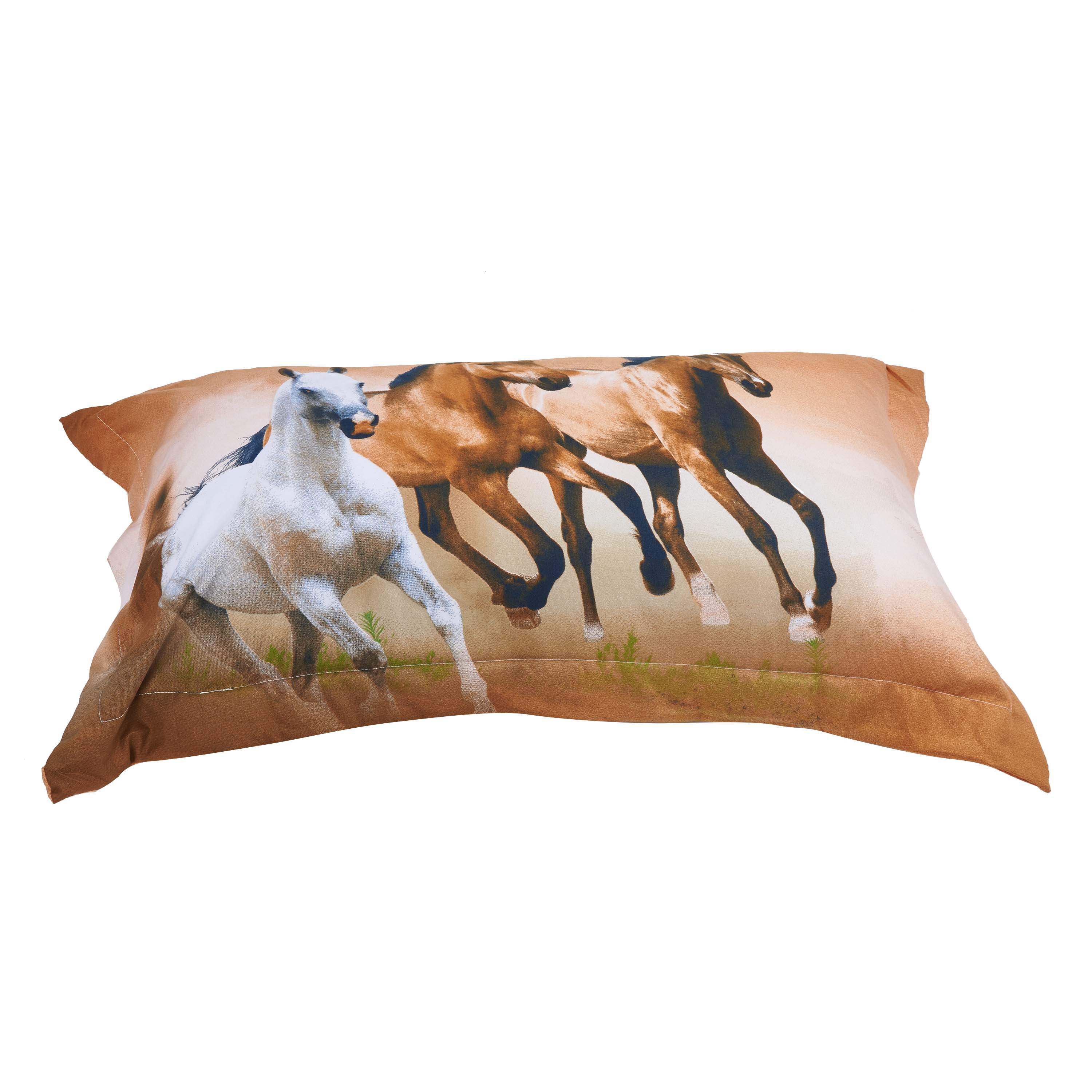 European Style Galloping Horse Reactive Print 4 Piece Polyester Bedding Set/Duvet Covers