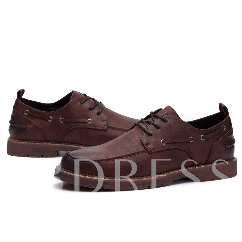 Lace Up Brush Off Men's Professional Shoes