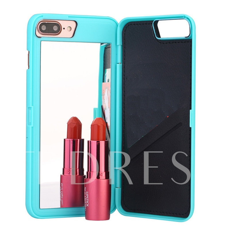 Apple iPhone 8/8 Plus/7/7 Plus Phone Wallet Case with Mirror+Card Slot
