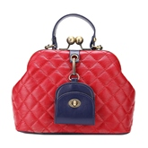 Retro Quilted Lining Pattern Women Tote Bag