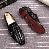 Suede with Full Rivet Slip On Men's Chic Loafers