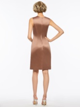 Scoop Neck Sheath Mother Of The Bride Dress With Jacket