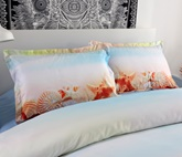 Starfish and Conch on Sand Printed 4-Piece 3D Bedding Sets/Duvet Covers