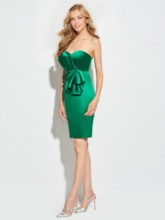 Sweetheart Sheath Pleats Short Cocktail Dress
