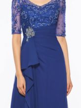 Beading Embroidery Half Sleeve Mother Of The Bride Dress