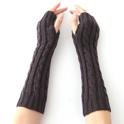 Knitting Woolen Yarn Warmth Twist gloves